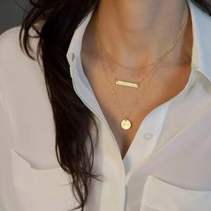 3/$30 💛 Dainty Layered Pendant Necklace